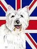 Caroline's Treasures SC9827GF Westie with English Union Jack British Flag, Small, Multicolor Review