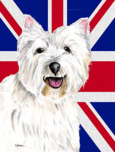 Caroline's Treasures SC9827GF Westie with English Union Jack British Flag, Small, Multicolor
