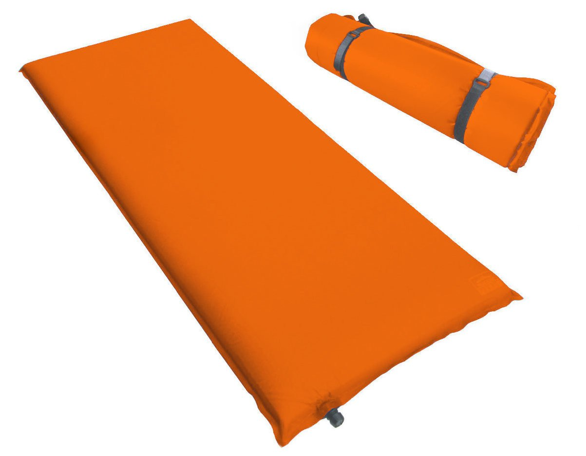 Kronenburg Isomatte Selbstaufblasend 200 x 66 x 10 cm in Orange