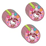 "Amscan Hello Kitty Balloon Dreams Party 7"" Paper Dessert Plates - 24 Guests"