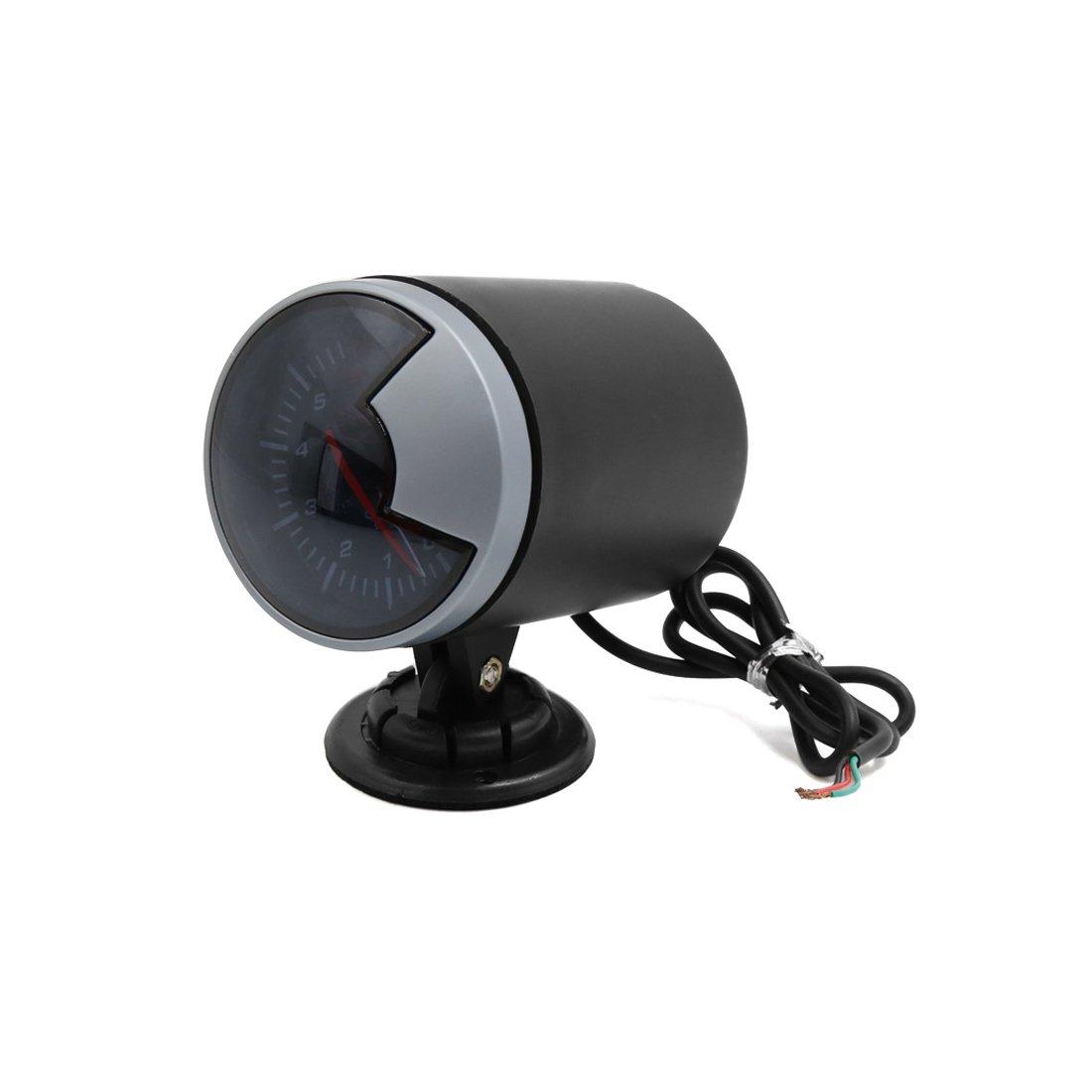 uxcell LED Dashboard Oil Pressure Gauge w Sensor Bracket Kit for Car Vehicle