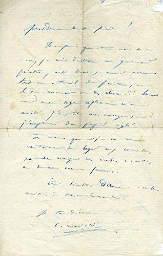 Camille Saint-saens – Autograph Letter Signed