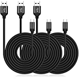 Type C USB Charger Cable, VICOX 3Pack 10Ft Soft Rubber USB C to USB Fast Charging Data Cable for Galaxy Note 8 S9 S9+ S8 Plus, LG G5 G6 V20, Pixel XL, Oneplus 3T 5 6, Nintendo Switch