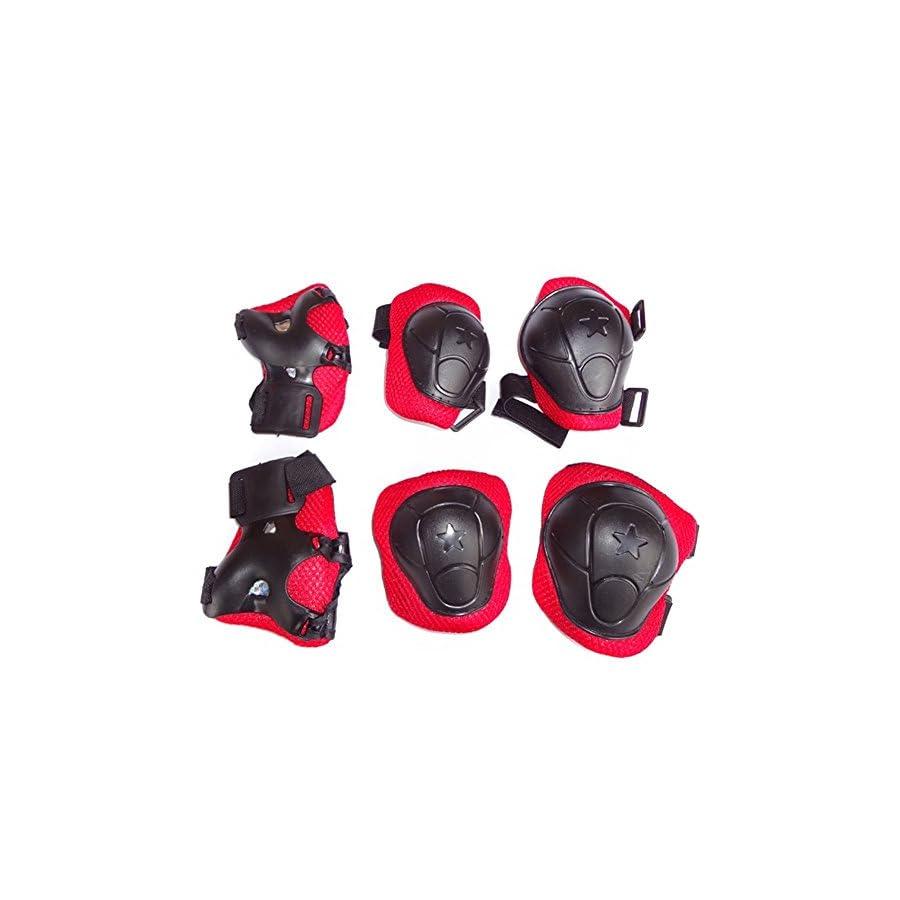 *6 PCS* Children Cycling Roller Protective Pads, Eruner Kid's Skateboard Biking Roller Blading Wrist Elbow Knee Pads Blades Guard Outdoor Sport Pads Accessory[Children'S Day Christmas Gift]