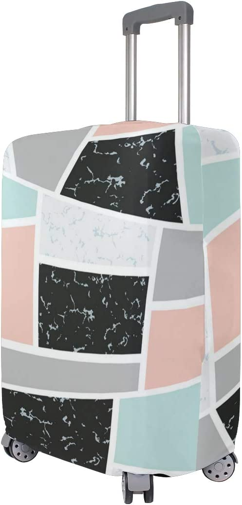 Irregular Geometric Marble Pattern Traveler Lightweight Rotating Luggage Cover Can Carry With You Can Expand Travel Bag Trolley Rolling Luggage Cover