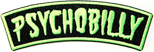 Lemon Green PSYCHOBILLY Logo Jacket T-shirt Patch Sew Iron on Embroidered Sign Badge (Hot Zombie Costume Ideas)