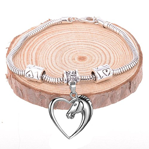 GlobalJewels Heart Horse Bracelet - Best Gift for Mother, Sister, Brother, Friends, Birthdays and Anniversaries by GlobalJewels (Image #4)