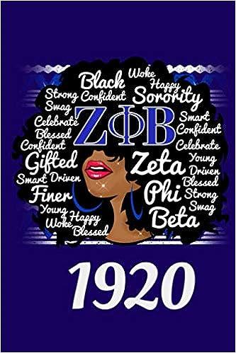 Zeta Phi Beta 1920 Crest Bookbag Royal