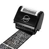 Miseyo Wide Confidential Roller Stamp Identity Theft Protection - Black