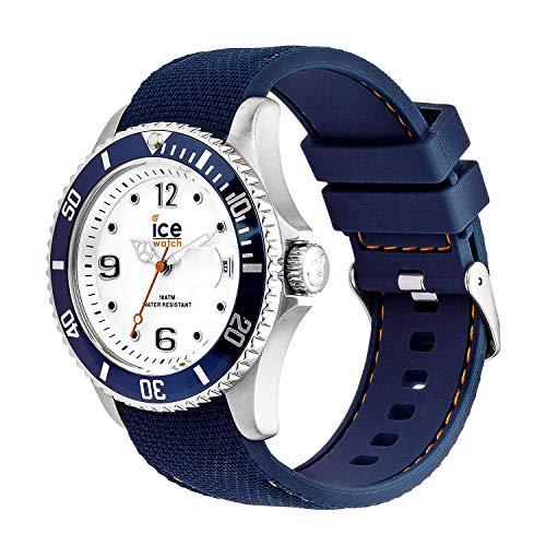Ice-Watch – ICE stål vit blå – armbandsur för män med silikonrem – 016771 (medium)