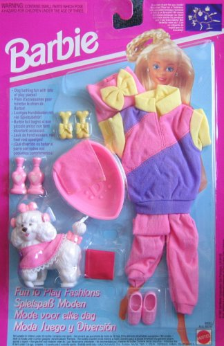 Barbie FUN TO PLAY Fashions & Accessories DOG BATHING (1993) by Barbie