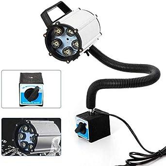 HaroldDol CNC - Lámpara de torno para máquina (LED, resistente al agua, flexible, cuello de cisne, base magnética, 5 W, 220 V)