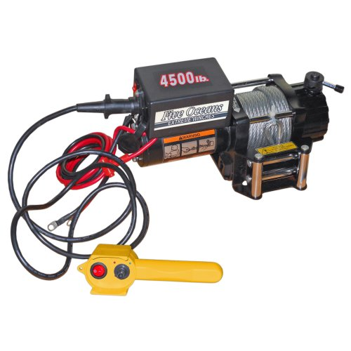 Electric-Trailer-Recovery-Winch-Atvboattruckcar-4500-Lb-12v-Five-Oceans