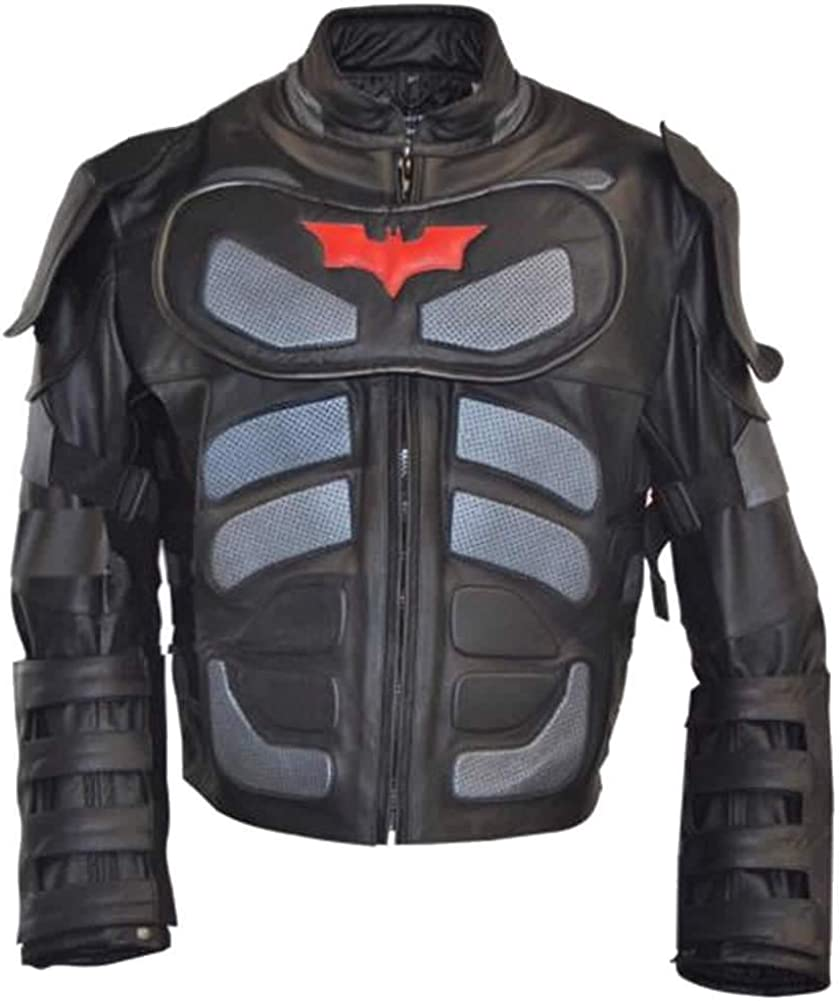 Stormwise Mens Dark Real Leather Knight Jacket Xs-5xl