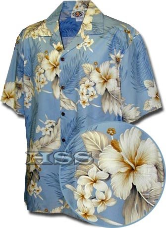 Pacific Legend Aloha Shirts The Luau in Blue XL 410-3162 ()