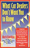 What Car Dealers Don't Want You to Know, Mark Eskeldson, 0964056070