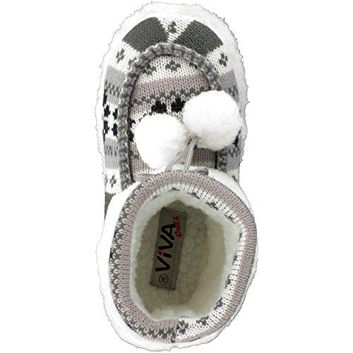 brandsseller - Zapatillas de estar por casa de Material Sintético para mujer Gris - gris