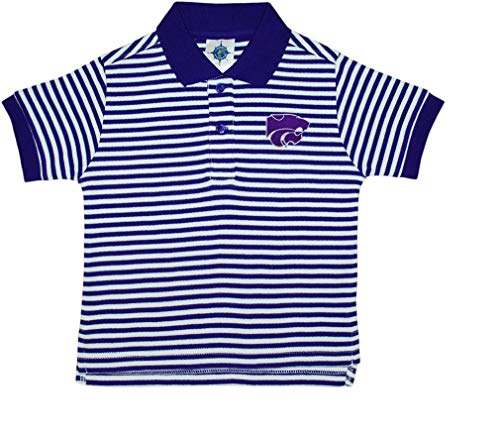 Creative Knitwear Kansas State University Wildcats Striped Polo Shirt ()