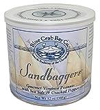 Blue Crab Bay ''Sandbaggers'' - Gourmet Virginia Peanuts with Sea Salt & Cracked Pepper, 12 Oz. Tin (4-Pack)