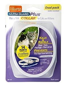 Hartz Ultraguard Plus Flea & Tick Collar for Cats and Kittens
