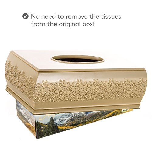 Shannon Rectangular Tissue Box Cover Decorative Bath Tissues Paper Napkin Holder Resin