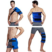 """Koo-Care Large Flexible Gel Ice Pack & Wrap with Elastic Straps for Hot Cold Therapy - Great for Sprains, Muscle Pain, Bruises, Injuries - 11"""" x 14"""")"""