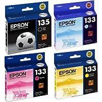 Kit 4 cartuchos Epson 133 e 135 para T25 TX123 TX125 TX133 TX135