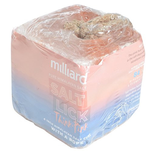 - Milliard 4.9 lbs Himalayan Salt Lick for Horses, Deer, and Livestock – 4.9lb Cube with Rope
