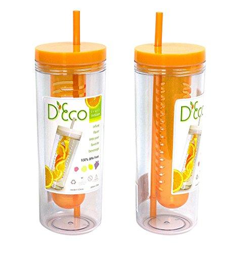 Fruit Infuser Water Bottle by D'Eco (Orange)