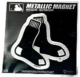 "Stockdale Boston Red Sox 6"" Metallic MAGNET Silver Style Vinyl Die Cut Auto Home Baseball"