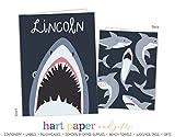 Shark 2 Pocket Folder Gift Name Back to School Supplies Teacher Office Birthday Girl Kids Custom Personalized Custom