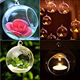 Elevin(TM)  Crystal Glass Hanging Candle Holder Candlestick Home Wedding Party Dinner Decor