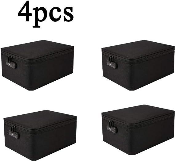 SPAQG Caja de Almacenamiento Familiar de Gran Capacidad, Caja de Almacenamiento multifunción para Documentos, 10.6 * 15 * 7.8 Pulgadas, para almacenar Documentos, Fotos, Sobres, etc. (4 Piezas): Amazon.es: Hogar