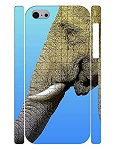 Personalized Series Cell Phone Case With Elephant Pattern Slim Fit Case Cover for Iphone 5c