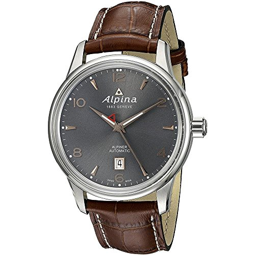 Alpina Men's AL-525VG4E6 Alpiner Analog Display Automatic Self Wind Brown Watch