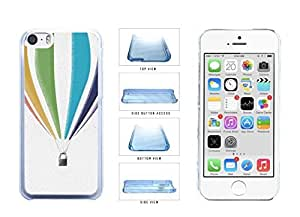 Adventurous one Floating Hot Air Balloon Clear Plastic to Phone Case Back Cover Apple iphone 5s per use