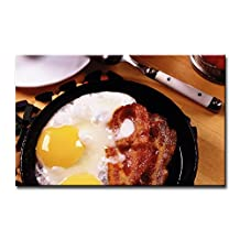 Wall Art Painting Breakfast Fried Eggs Bacon Yolks Prints On Canvas The Picture Food Pictures Oil For Home Modern Decoration Print Decor