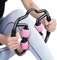 VITOP マッサージローラー スティックトリガーポイントローラーマッサージ 筋膜 首 腰 足 ふくらはぎ リリースマッサージ 腰痛・肩コリ・筋肉痛を改善 ストレッチ 脚やせ 美足 グリッドフォームローラー ヨガ棒