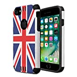 iPhone 7 Case, iPhone 6 / 6S Case, Capsule-Case Hybrid Dual Layer Silm Defender Armor Combat Case Brush Texture Finishing for Apple iPhone 7 / iPhone 6S / iPhone 6 - (Union Jack Flag)