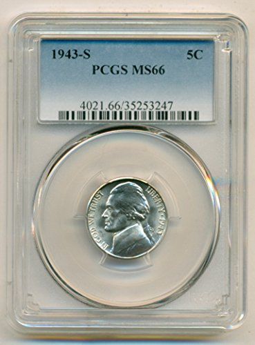 1943 S Jefferson Silver Nickel MS66 PCGS
