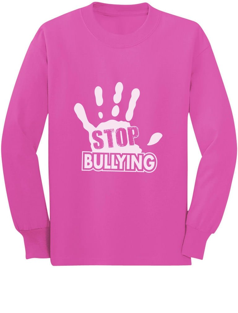 Stop Bullying Speak Up Pink Shirt Day Anti-Bullying Long sleeve kids T-Shirt G0PMl33gCm