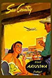 "Visit Arizona Sun Country Travel Tourism Vintage Poster Repro 20"" X 30"" Image Size. We Have Other Sizes Available!"