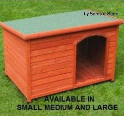 Outdoor Wooden Dog kennel House Flat Roof Puppy Shelter Accessible Easy Clean Weather Resistant (Small)