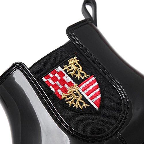 di 37 Donna Nero Scarpe PVC Moda Acqua Colore Scarpe Nuove in per Antiscivolo da da da Scarpe Leggere Pioggia Pioggia Dimensione UUq7w8RP1