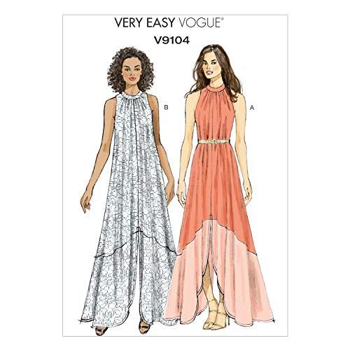 - Vogue Patterns V9104 Misses' Dress, Size A5 (6-8-10-12-14)