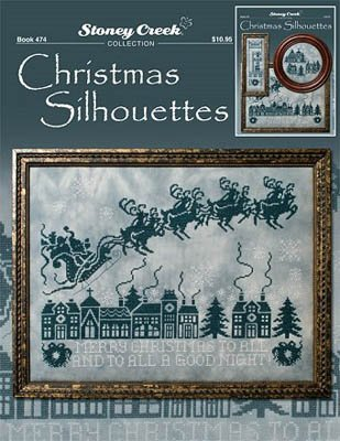 Christmas Silhouettes Cross Stitch Chart and Free Embellishment
