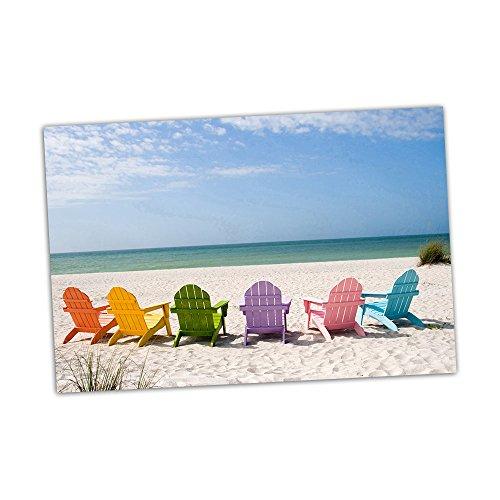 Beach Chairs Wall Decoration Digital Art Image Printed on 24
