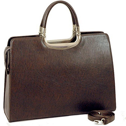 Fine Textured Leather Look Like Brifcase Color: Brown (Leather Textured Fine)