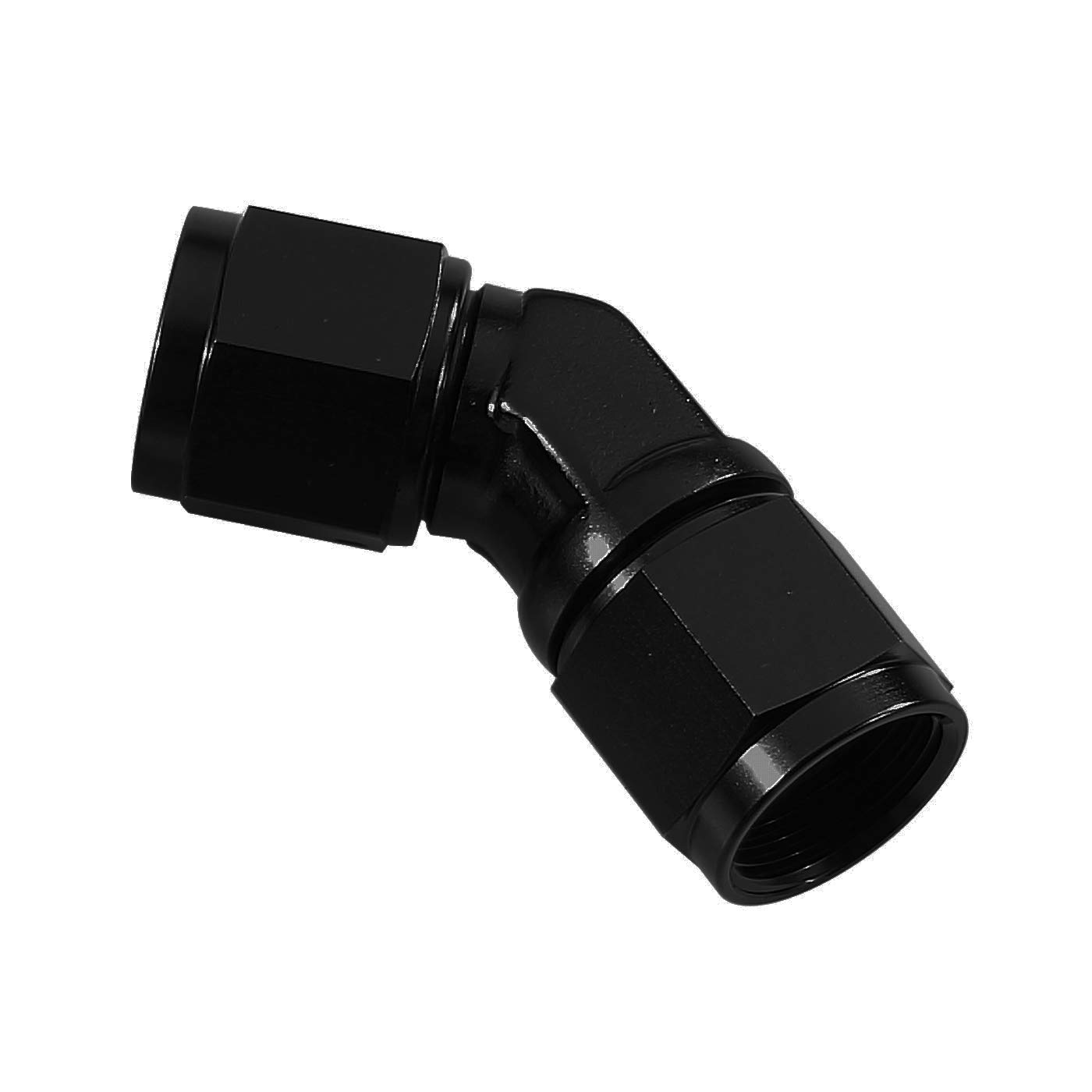 Performance Black Aluminum Anodized Adapter 90 Degree Swivel Female 10 AN to Female 10AN Coupler Union Fuel Line Hose Adapter Fitting