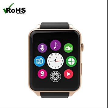 Reloj Inteligente Smartwatch Bluetooth con Notificación de SMS,Contador de Calorías,Análisis de Sueño,Cámara control,Podómetro,Pulsera Inteligente Pantalla ...